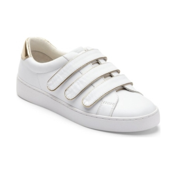 Vionic Shoes   White Leather Velcro